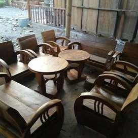 Kursi sedan antik Lawasan papan  kayu jati tua Lawasan