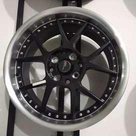 Velg mobil racing HSR ring 16x75/8,75 pcd 8x100-114 type dogiyai BML