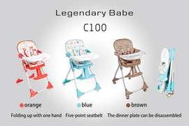 Lazada Legendary Babe High Chair C100 Kursi Makan Bayi