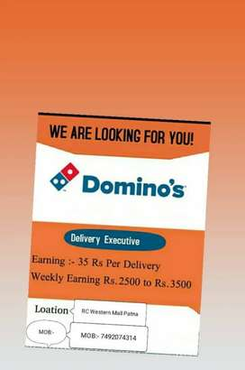 Domino's hiring delivery boy, hurry up! Driving license & bike needed