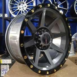 Velg racing Triton ring 17 warna grey tipe Flint hsr baru
