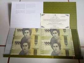Uang Langka Antik pecahan 1.000