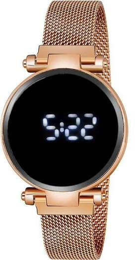 Magnet Belt Led Light Ladies Girls Watch Gold 2021 New Collection ]