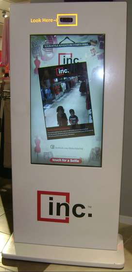 42 inch Selfie Touch Screen Kiosks for Sale