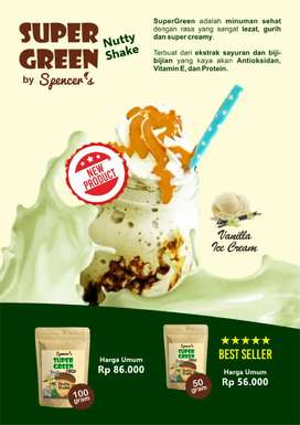 Super Green Nutty Shake Vanilla & Chocolate