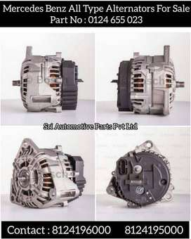 'MERCEDES BENZ ALL TYPE ALTERNATORS AVAILABLE FOR SALE: