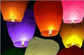 Sky Lanterns lamps Pack Of 10 Pieces