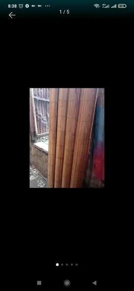 Tirai polos, isi bambu dan tirai banbu
