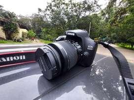 Canon 1500D camera + kit lens + prime lens(50mm)