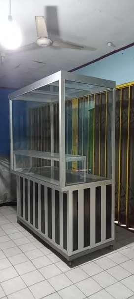 Jual Rugi Etalase Kokoh Fullbody Stainless Steel Bekas Berkualitas