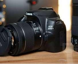 Camara for rent (include camara man ) canon 200d with Wilde lense