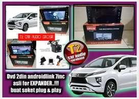 MUKER DVD 2DIN ASLI FOR XPANDER ANDROIDLINK 7INC FULL HD+CAMERA HD