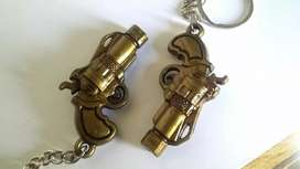 Brand new unused Pack of Two Key Chains - Stylish Guns
