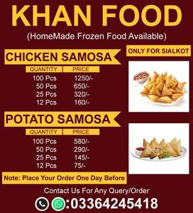 Frozen Items Chicken Samosa's And Potato Samosa's