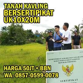 Tanah kavling murah gratis biaya balik nama