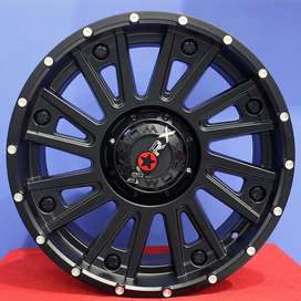 Cicil Velg Racing Mobil Ring 20 Type BARROT Black Full HSR Wheel
