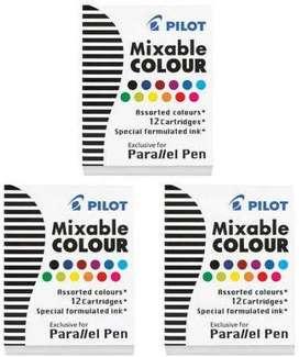 Pilot Parallel Pen Ink refill assorted colors 77312