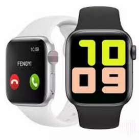 Smart watch 44mm T500 waterproof in black and white colour