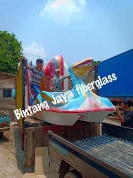 sepeda air pelikan biru, bebek sepeda air fiberglass