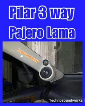 3 way Pilar panel Pajero Lama isi 2 pcs kanan kiri for paket sound tv