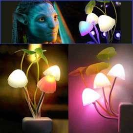 Lampu Tidur Led Jamur Avatar - Sensor Cahaya Otomatis Nyala dan Padam