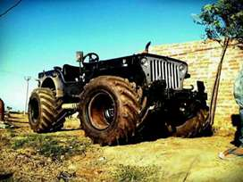 Jeep stylish with wide tyres