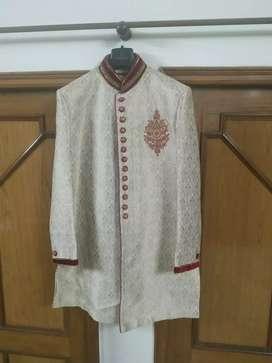 Manyavar groom sherwaani for sale with juti and stole