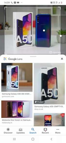 Samsung A50  saphire blue only2month old only 12500