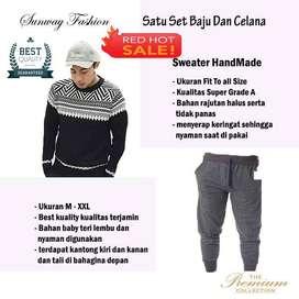 AM00240 Celana Setelan Satu set Sweater dan celana jogger