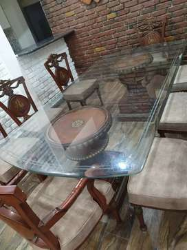 Sofa and dining table with chairs very good condition