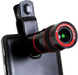 8X Zoom Detachable Clip-on Telescope Lens
