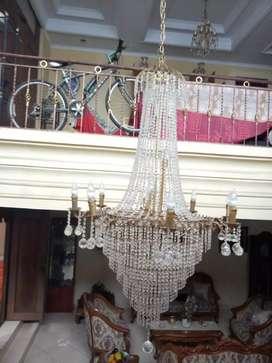 Lampu gantung antik kristal big size LK02