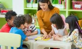 Play school Female Teacher only for teaching purpose