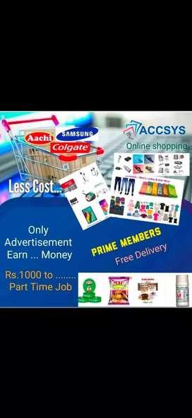Home based part time & full time job easily earn 60000 per week