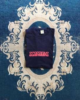 Scorpions ,kaos band vintage,kaos band,kaos musik