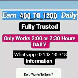 Come fast and earn money daily online