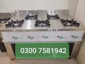 Pakistani cocking range 5 burner we deal pizza oven and all equipment