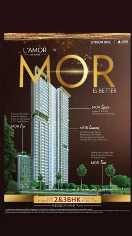 2bhk flat huge with good amenities, payment plan