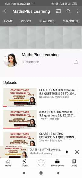 Maths Coaching / Home tution  for classes 8th and above(12th)