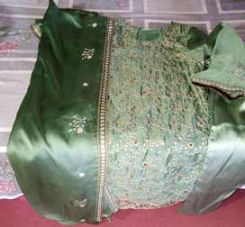 Silk embroided suit
