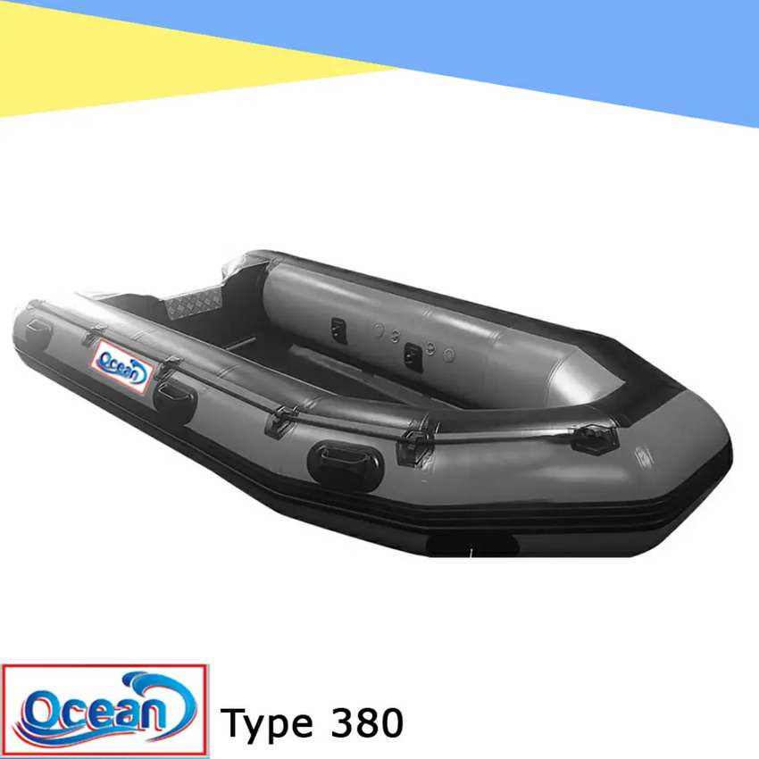 Perahu karet rescue mancing OCEAN 380 welding system PVC 0.9 mm korea