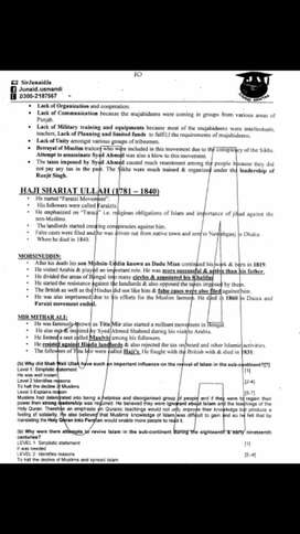 Olevel Pakistan Studies Notes(Sir Junaid Akhter)