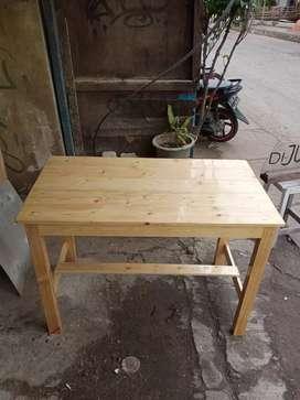 Meja makan ukuran 75x50x100 kayu jati Belanda natural