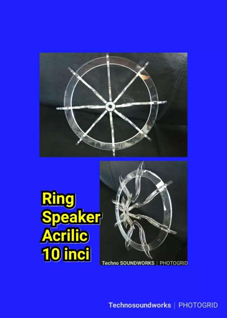 Ring speaker acrilic sub woofer 10 inci buat Fantasi audio mobil sound 0