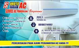Terimah bongkar pasang ac+service cuci