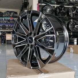 VELG RACING BLACK CHROME R17X75 H8X100-114 HSR TYPE VEREZZO