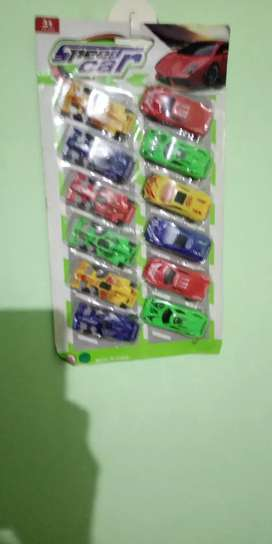Colorful car set complete pack new