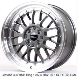 all new LEMANS 306 HSR R17X75 H8X100-114,3 ET35 GML