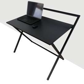 Portable Study Computer Table 3x2 Feet with Metal Folding Legs