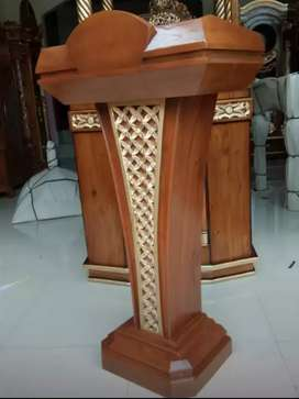 Mimbar Masjid ukiran kayu jati berkualitas @MRJ 0943